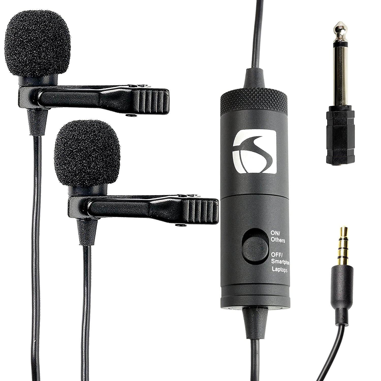 Rewy Brobeat 3.5MM Clip On Mini Lapel Lavalier Microphone
