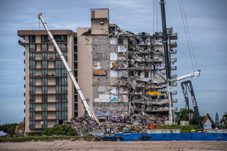 a building collapse